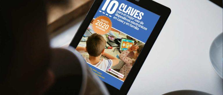 vista de una persona leyendo un ebook con una portada de reimaginatuvida